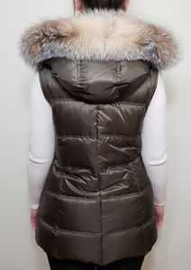 ANDREW MARC NEW YORK DOWN FOX FUR VEST